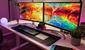 image of desk setup 2 monitor - Autonomous.ai